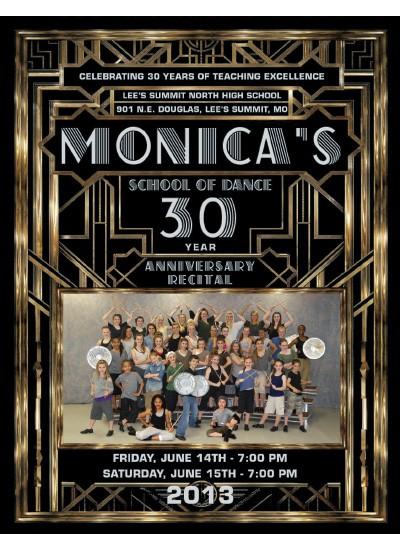Monica's School of Dance Program Cover