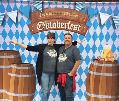 Lee's Summit Oktoberfest Photo Banner Backdrop.  Design by Lee's Summit Chamber, produced by us!
