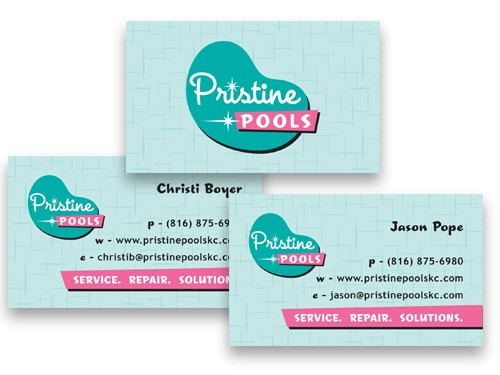 Pristine Pools Business cards