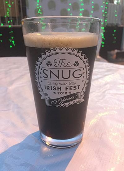 Kansas City Irish Fest VIP Pint Glass