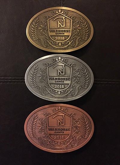 Warhorse Games Awards - Belt Buckles