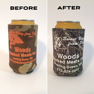 Can Coozie update for Woods Smoked Meats
